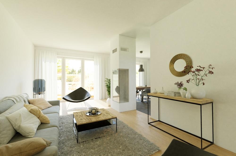 Wohnzimmer - Visualisierung, Einrichtungsbeispiel